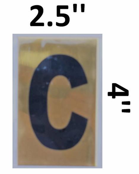 Apartment number sign C – (GOLD, ALUMINUM SIGNS 4X2.5)