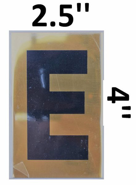 Apartment number sign E – (GOLD, ALUMINUM SIGNS 4X2.5)-Ref05-2020