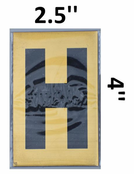 Apartment number sign H– (GOLD, ALUMINUM SIGNS 4X2.5)-Ref05-2020
