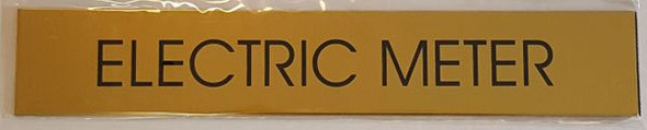 Electric Meter Room Gold Sign
