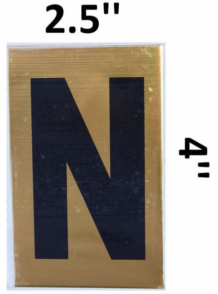 Apartment number sign N– (GOLD, ALUMINUM SIGNS 4X2.5)-Ref05-2020