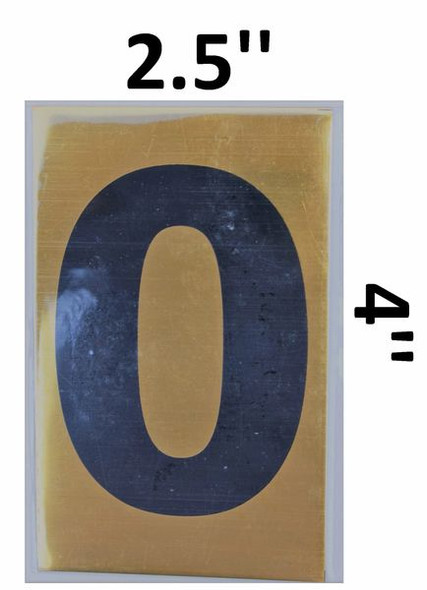 Apartment number sign O– (GOLD, ALUMINUM SIGNS 4X2.5)-Ref05-2020