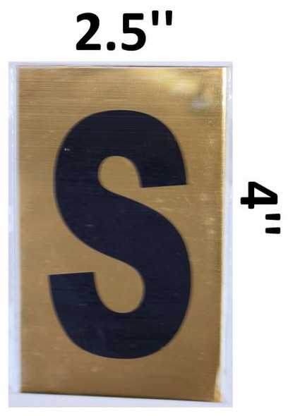 Apartment number sign S– (GOLD, ALUMINUM SIGNS 4X2.5)-Ref05-2020