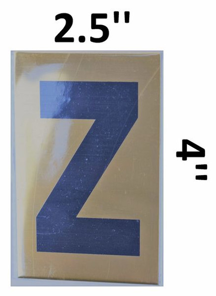 Apartment number sign Z– (GOLD, ALUMINUM SIGNS 4X2.5)-Ref05-2020