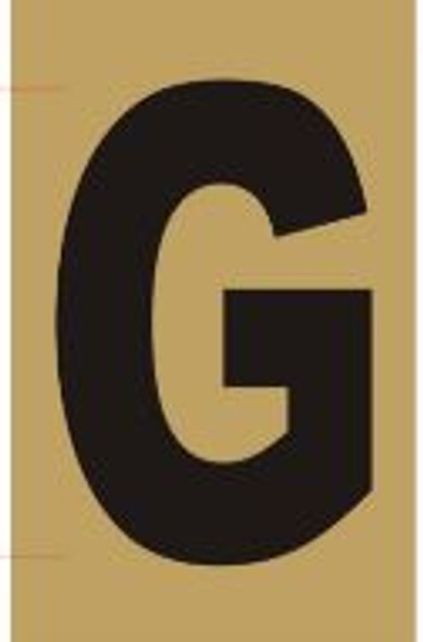 Apartment number sign G– (GOLD, ALUMINUM SIGNS 4X2.5)-Ref05-2020