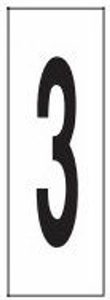 """PHOTOLUMINESCENT DOOR NUMBER 3 SIGN HEAVY DUTY / GLOW IN THE DARK """"DOOR NUMBER THREE"""" SIGN HEAVY DUTY (ALUMINUM SIGN/ APARTMENT AND EMERGENCY MARKINGS 1.5 X 0.5)"""