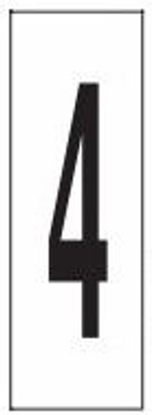 """PHOTOLUMINESCENT DOOR NUMBER 4 SIGN HEAVY DUTY / GLOW IN THE DARK """"DOOR NUMBER FOUR"""" SIGN HEAVY DUTY (ALUMINUM SIGN/ APARTMENT AND EMERGENCY MARKINGS 1.5 X 0.5)"""