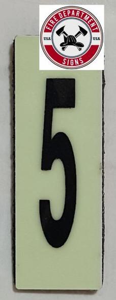 PHOTOLUMINESCENT DOOR NUMBER B SIGN