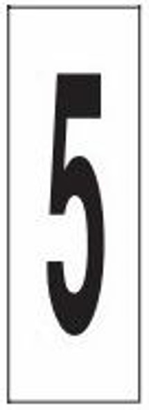 """PHOTOLUMINESCENT DOOR NUMBER 5 SIGN HEAVY DUTY / GLOW IN THE DARK """"DOOR NUMBER FIVE"""" SIGN HEAVY DUTY (ALUMINUM SIGN/ APARTMENT AND EMERGENCY MARKINGS 1.5 X 0.5)"""