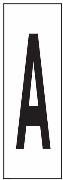 """PHOTOLUMINESCENT DOOR NUMBER A SIGN HEAVY DUTY / GLOW IN THE DARK """"DOOR NUMBER"""" SIGN HEAVY DUTY (ALUMINUM SIGN/ APARTMENT AND EMERGENCY MARKINGS 1.5 X 0.5)"""