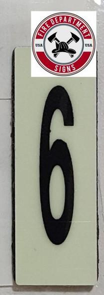 PHOTOLUMINESCENT DOOR NUMBER A SIGN