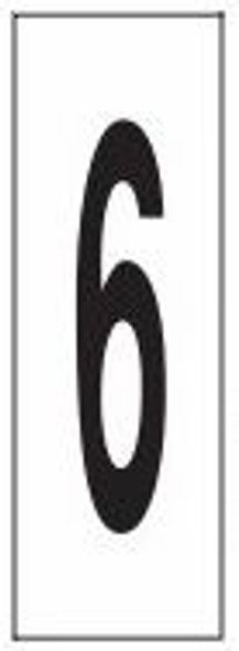 """PHOTOLUMINESCENT DOOR NUMBER 6 SIGN HEAVY DUTY / GLOW IN THE DARK """"DOOR NUMBER SIX"""" SIGN HEAVY DUTY (ALUMINUM SIGN/ APARTMENT AND EMERGENCY MARKINGS 1.5 X 0.5)"""