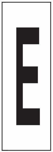"""PHOTOLUMINESCENT DOOR NUMBER E SIGN HEAVY DUTY / GLOW IN THE DARK """"DOOR NUMBER"""" SIGN HEAVY DUTY (ALUMINUM SIGN/ APARTMENT AND EMERGENCY MARKINGS 1.5 X 0.5)"""