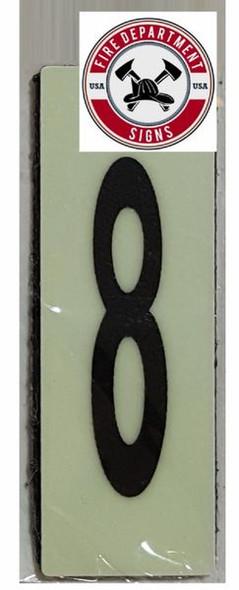 PHOTOLUMINESCENT DOOR NUMBER E SIGN