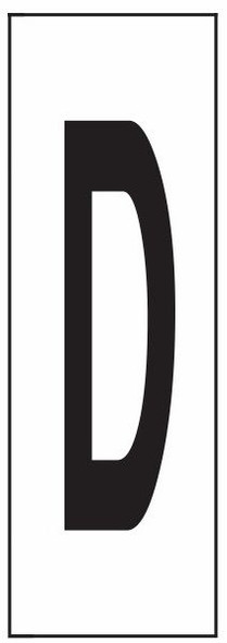 """PHOTOLUMINESCENT DOOR NUMBER D SIGN HEAVY DUTY / GLOW IN THE DARK """"DOOR NUMBER"""" SIGN HEAVY DUTY (ALUMINUM SIGN/ APARTMENT AND EMERGENCY MARKINGS 1.5 X 0.5)"""