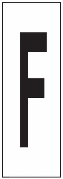 """PHOTOLUMINESCENT DOOR NUMBER F SIGN HEAVY DUTY / GLOW IN THE DARK """"DOOR NUMBER"""" SIGN HEAVY DUTY (ALUMINUM SIGN/ APARTMENT AND EMERGENCY MARKINGS 1.5 X 0.5)"""