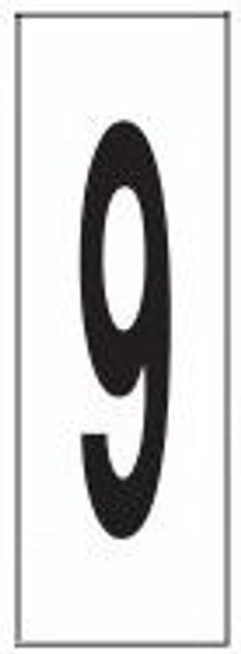 """PHOTOLUMINESCENT DOOR NUMBER 9 SIGN HEAVY DUTY / GLOW IN THE DARK """"DOOR NUMBER NINE"""" SIGN HEAVY DUTY (ALUMINUM SIGN/ APARTMENT AND EMERGENCY MARKINGS 1.5 X 0.5)"""