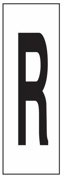 """PHOTOLUMINESCENT DOOR NUMBER R SIGN HEAVY DUTY / GLOW IN THE DARK """"DOOR NUMBER"""" SIGN HEAVY DUTY (ALUMINUM SIGN/ APARTMENT AND EMERGENCY MARKINGS 1.5 X 0.5)"""