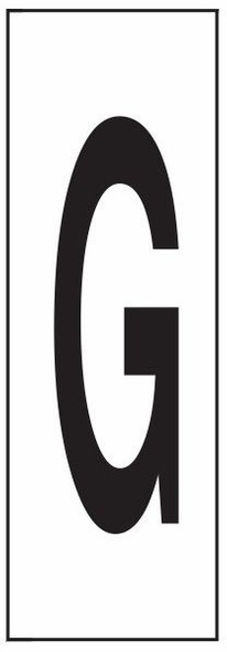 """PHOTOLUMINESCENT DOOR NUMBER G SIGN HEAVY DUTY / GLOW IN THE DARK """"DOOR NUMBER"""" SIGN HEAVY DUTY (ALUMINUM SIGN/ APARTMENT AND EMERGENCY MARKINGS 1.5 X 0.5)"""