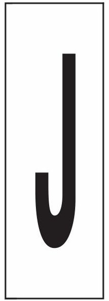 """PHOTOLUMINESCENT DOOR NUMBER J SIGN HEAVY DUTY / GLOW IN THE DARK """"DOOR NUMBER"""" SIGN HEAVY DUTY (ALUMINUM SIGN/ APARTMENT AND EMERGENCY MARKINGS 1.5 X 0.5)"""