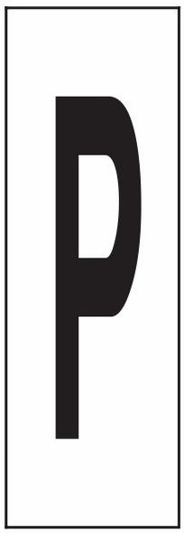 """PHOTOLUMINESCENT DOOR NUMBER P SIGN HEAVY DUTY / GLOW IN THE DARK """"DOOR NUMBER"""" SIGN HEAVY DUTY (ALUMINUM SIGN/ APARTMENT AND EMERGENCY MARKINGS 1.5 X 0.5)"""