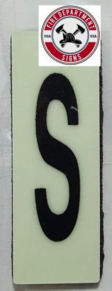 PHOTOLUMINESCENT DOOR NUMBER P SIGN