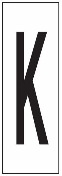 """PHOTOLUMINESCENT DOOR NUMBER K SIGN HEAVY DUTY / GLOW IN THE DARK """"DOOR NUMBER"""" SIGN HEAVY DUTY (ALUMINUM SIGN/ APARTMENT AND EMERGENCY MARKINGS 1.5 X 0.5)"""
