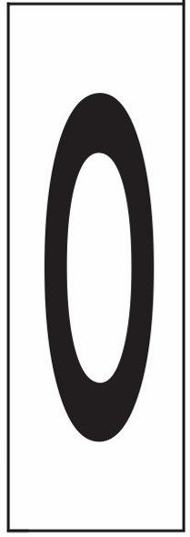 """PHOTOLUMINESCENT DOOR NUMBER O SIGN HEAVY DUTY / GLOW IN THE DARK """"DOOR NUMBER"""" SIGN HEAVY DUTY (ALUMINUM SIGN/ APARTMENT AND EMERGENCY MARKINGS 1.5 X 0.5)"""