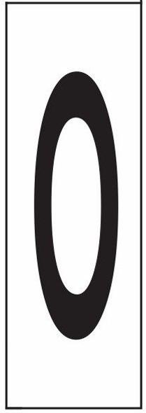 PHOTOLUMINESCENT DOOR NUMBER M SIGNAGE