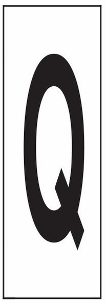 """PHOTOLUMINESCENT DOOR NUMBER Q SIGN HEAVY DUTY / GLOW IN THE DARK """"DOOR NUMBER"""" SIGN HEAVY DUTY (ALUMINUM SIGN/ APARTMENT AND EMERGENCY MARKINGS 1.5 X 0.5)"""