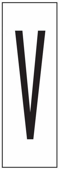 """PHOTOLUMINESCENT DOOR NUMBER V SIGN HEAVY DUTY / GLOW IN THE DARK """"DOOR NUMBER"""" SIGN HEAVY DUTY (ALUMINUM SIGN/ APARTMENT AND EMERGENCY MARKINGS 1.5 X 0.5)"""