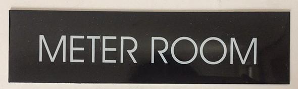 METER ROOM SIGN (BLACK ALUMINUM)