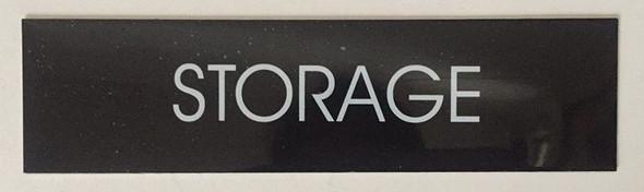 STORAGE sign (BLACK ALUMINUM)