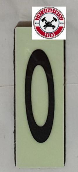 PHOTOLUMINESCENT DOOR NUMBER M SIGN