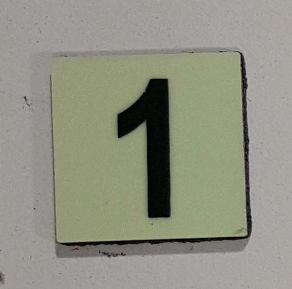 PHOTOLUMINESCENT DOOR NUMBER Z SIGN