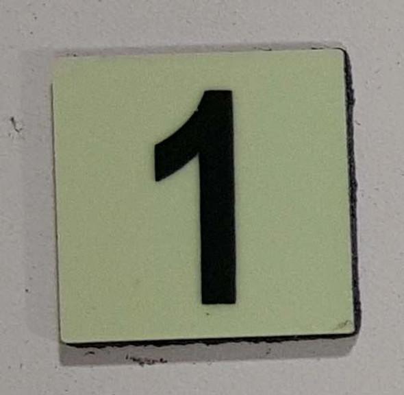 PHOTOLUMINESCENT DOOR NUMBER Z SIGNAGE