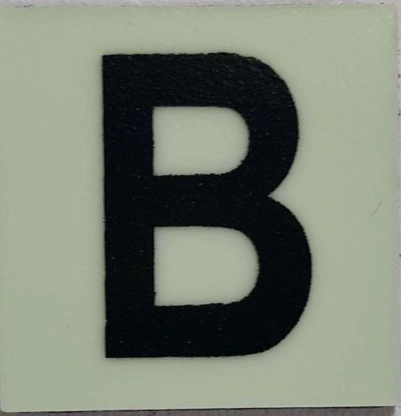 Glow in dark Number B sign The Liberty Line (Aluminum SIGNS 1x1, 3 RCNY §505-01)-Ref05-2020
