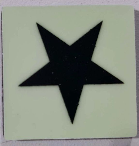 Glow in dark Star sign The Liberty Line (Aluminum SIGNS 1x1, 3 RCNY §505-01)-Ref05-2020