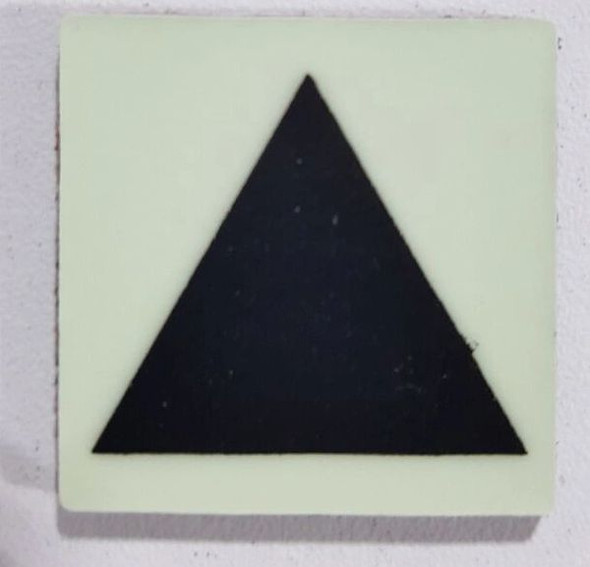 Glow in dark Triangle Marking Symbol sign The Liberty Line (Aluminum SIGNS 1x1, 3 RCNY §505-01)-Ref05-2020