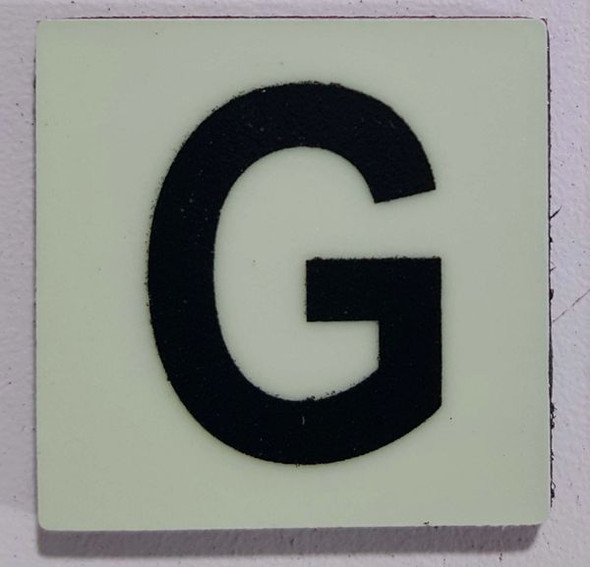 Glow in dark Number G sign The Liberty Line (Aluminum SIGNS 1x1, 3 RCNY §505-01)-Ref05-2020