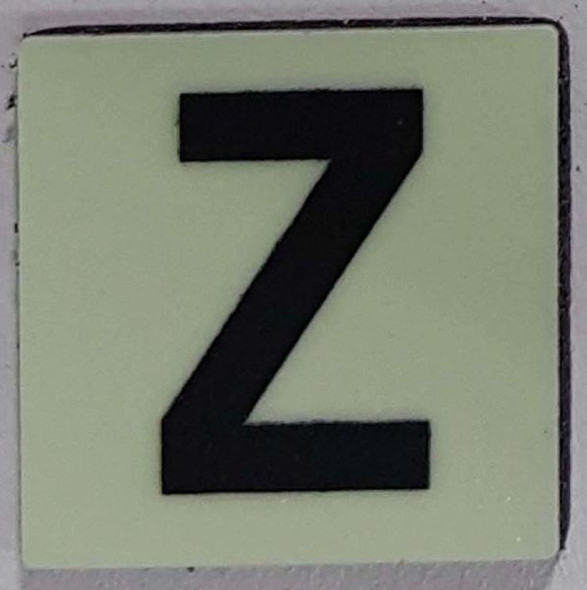 Glow in dark Number Z sign The Liberty Line (Aluminum SIGNS 1x1, 3 RCNY §505-01)-Ref05-2020