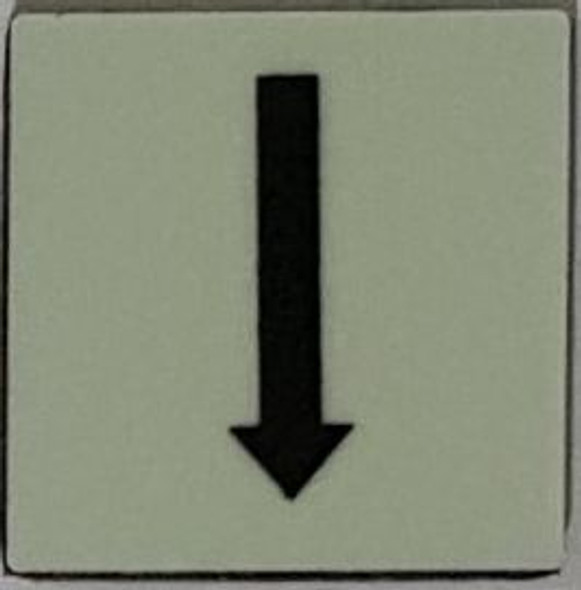 PHOTOLUMINESCENT DOWN ARROW SIGN The Liberty Line (Aluminum SIGNS 1x1, 3 RCNY §505-01)-Ref05-2020