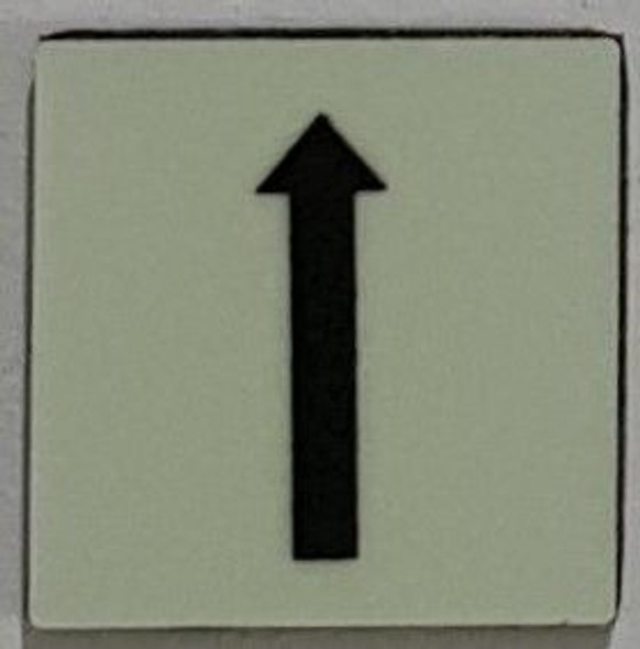 PHOTOLUMINESCENT UP ARROW SIGN The Liberty Line (Aluminum SIGNS 1x1, 3 RCNY §505-01)-Ref05-2020