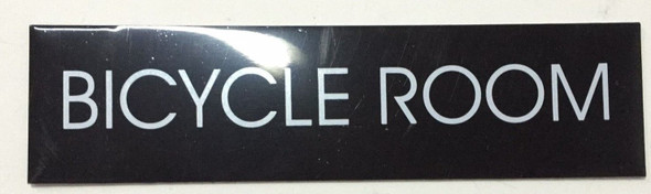BICYCLE ROOM SIGN (BLACK ALUMINUM)