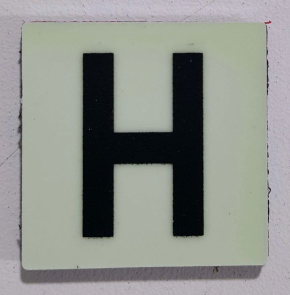 Glow in dark Number H sign The Liberty Line (Aluminum SIGNS 1x1, 3 RCNY §505-01)-Ref05-2020