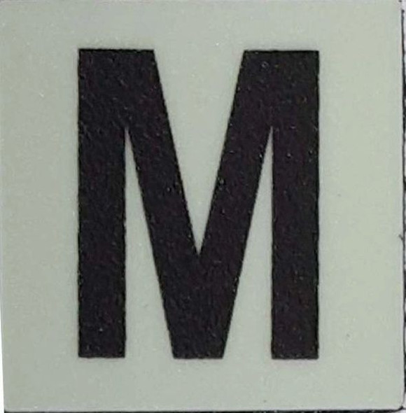 Glow in dark Number M sign The Liberty Line (Aluminum SIGNS 1x1, 3 RCNY §505-01)-Ref05-2020