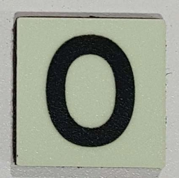 Glow in dark Number O sign The Liberty Line (Aluminum SIGNS 1x1, 3 RCNY §505-01)-Ref05-2020