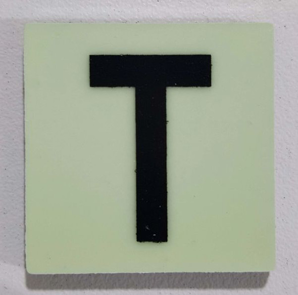Glow in dark Number T sign The Liberty Line (Aluminum SIGNS 1x1, 3 RCNY §505-01)-Ref05-2020