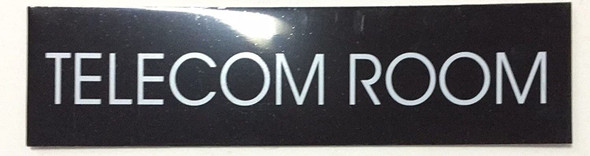 TELECOM ROOM SIGN (BLACK )