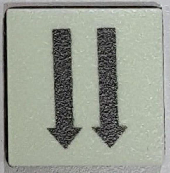 PHOTOLUMINESCENT 2 DOWN ARROWS SIGN The Liberty Line (Aluminum SIGNS 1x1, 3 RCNY §505-01)-Ref05-2020